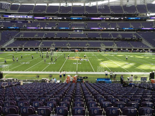 U.S. Bank Stadium Section V 3 view