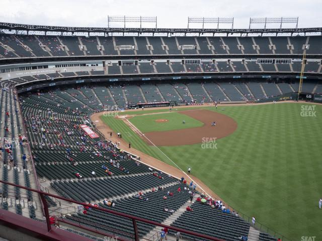Globe Life Park Section 342 view