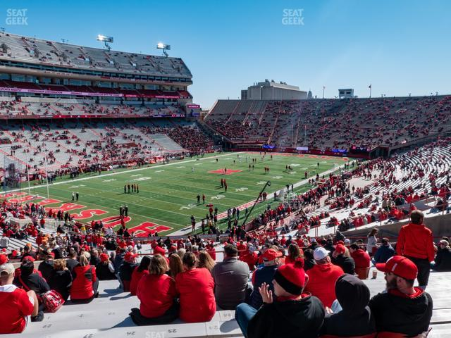 Memorial Stadium Nebraska Section 32 view