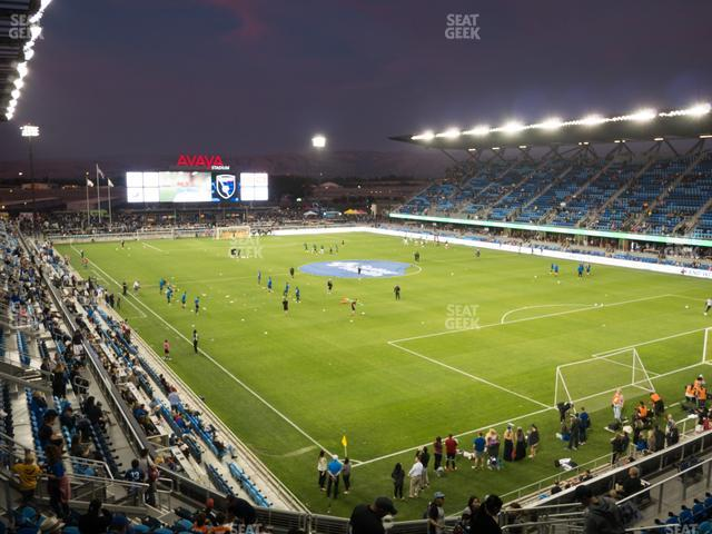 Avaya Stadium Section 114 view
