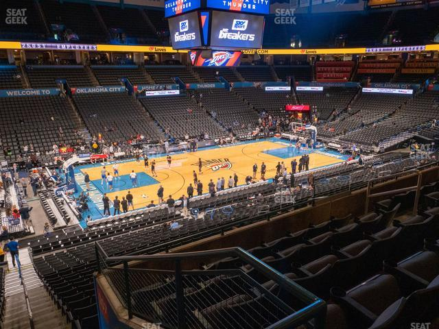 Chesapeake Energy Arena Section 210 view