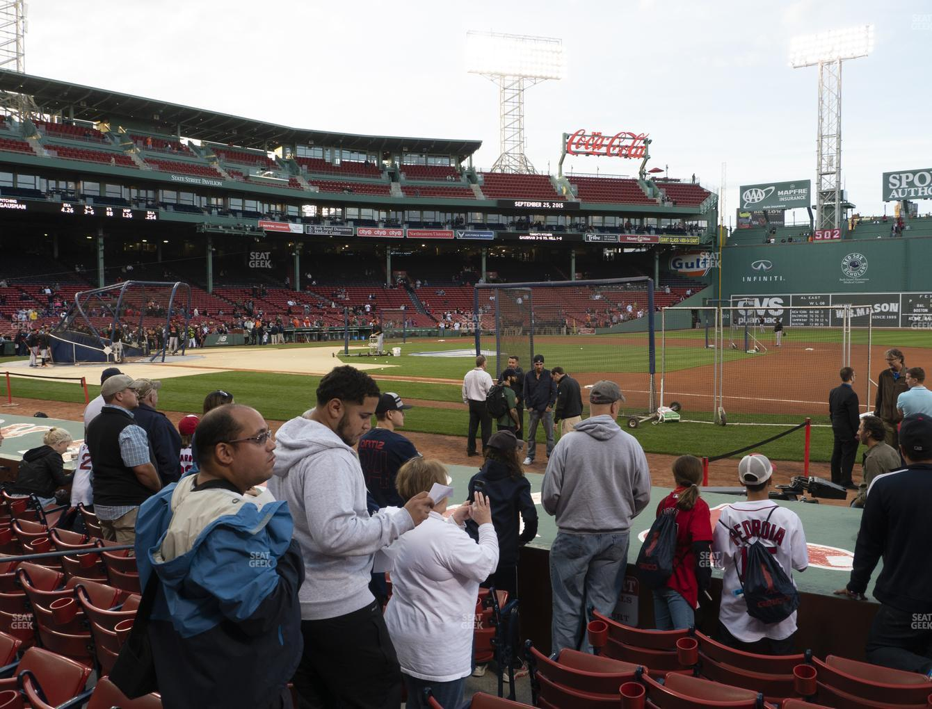 Boston Red Sox at Fenway Park Field Box 21 View