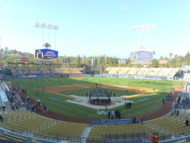 Dodger Stadium Loge Box 101 view