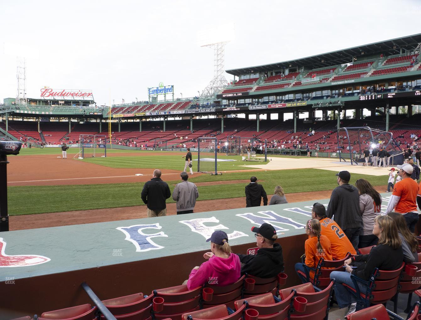Boston Red Sox at Fenway Park Field Box 68 View
