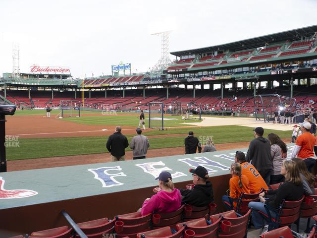 Fenway Park Field Box 68 view