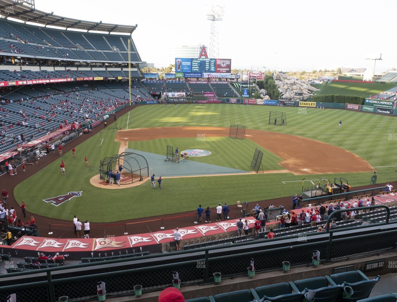 Los Angeles Angels at Angel Stadium of Anaheim Section 331 View