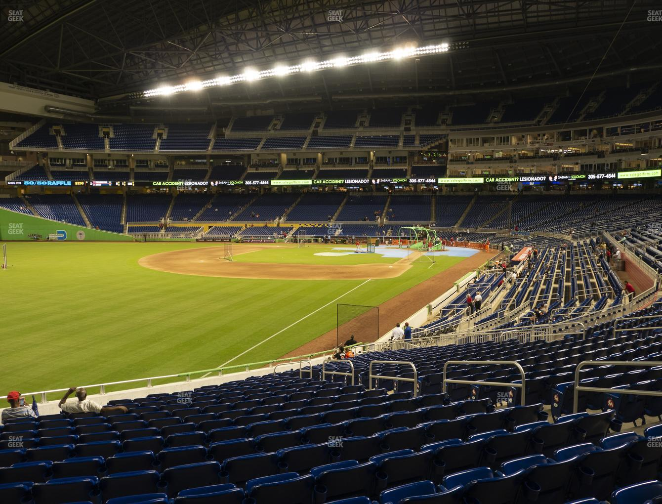 Miami Marlins at Marlins Park Section 27 View