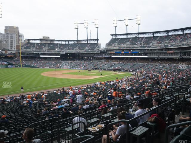 Comerica Park Section 141 view