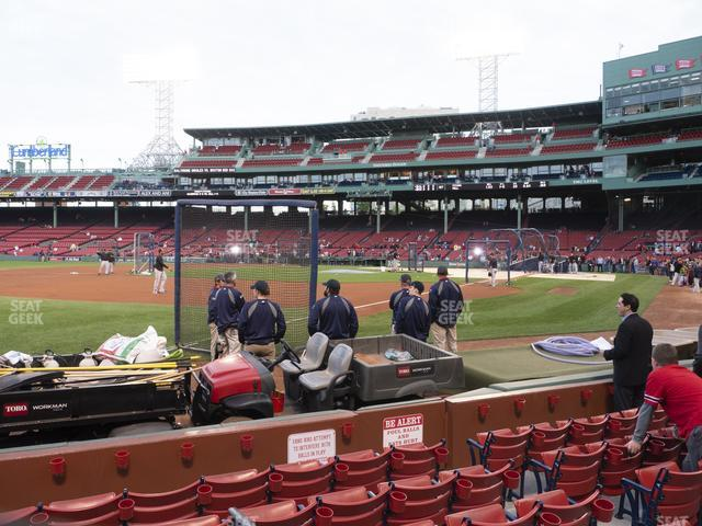 Fenway Park Field Box 77 view