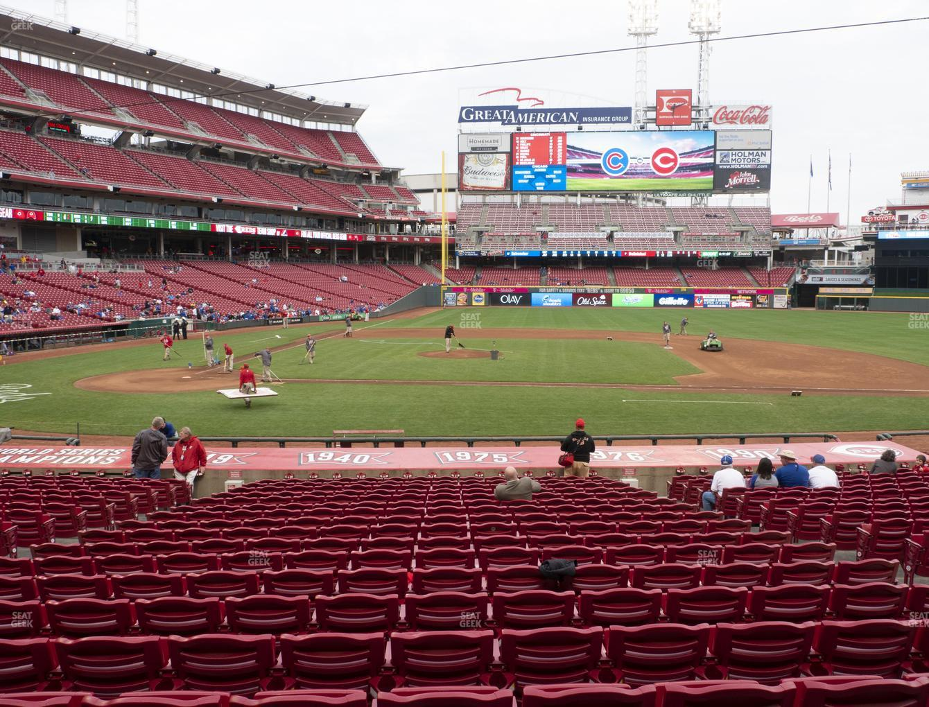 Cincinnati Reds at Great American Ball Park Section 129 View