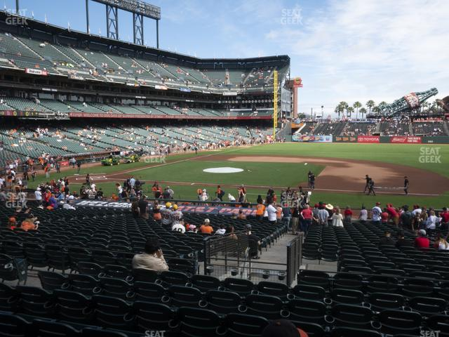 Oracle Park Section 107 view