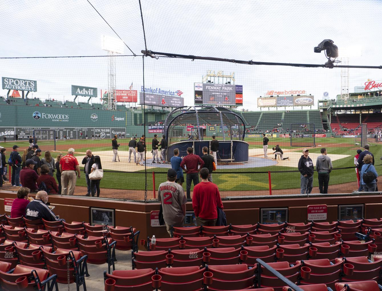 Boston Red Sox at Fenway Park Field Box 46 View