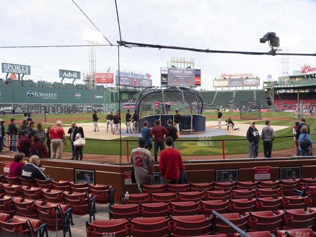 Fenway Park Field Box 46 view