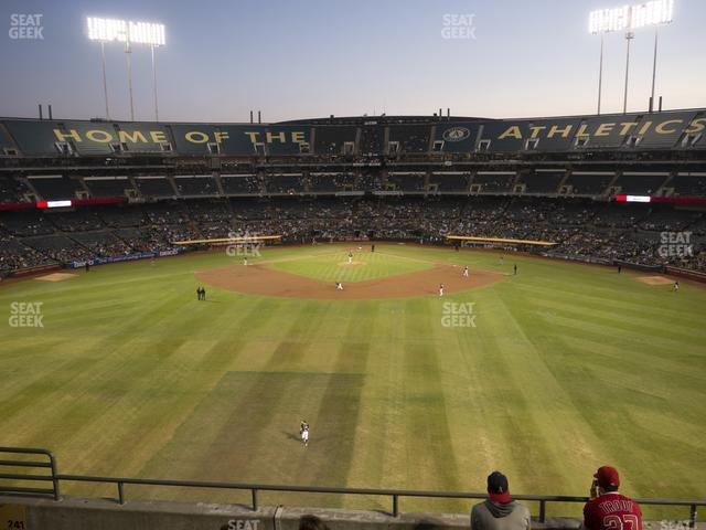 Oakland-Alameda County Coliseum Section 241 view
