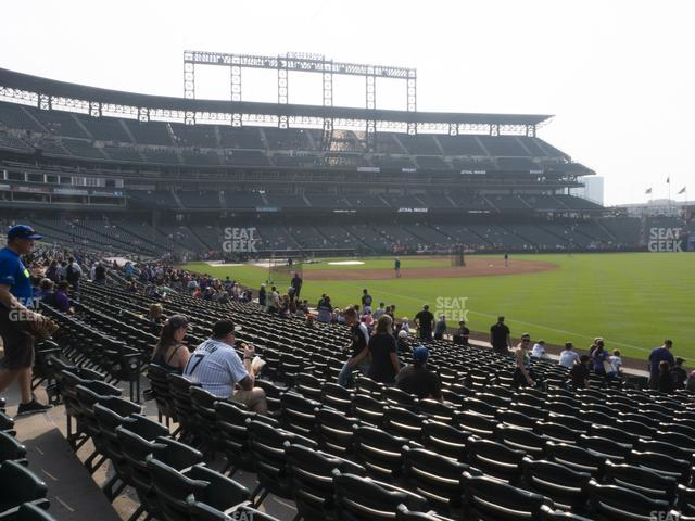 Coors Field Section 115 view