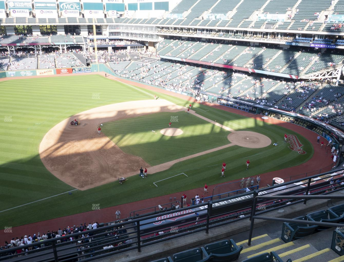 Cleveland Indians at Progressive Field Section 467 View