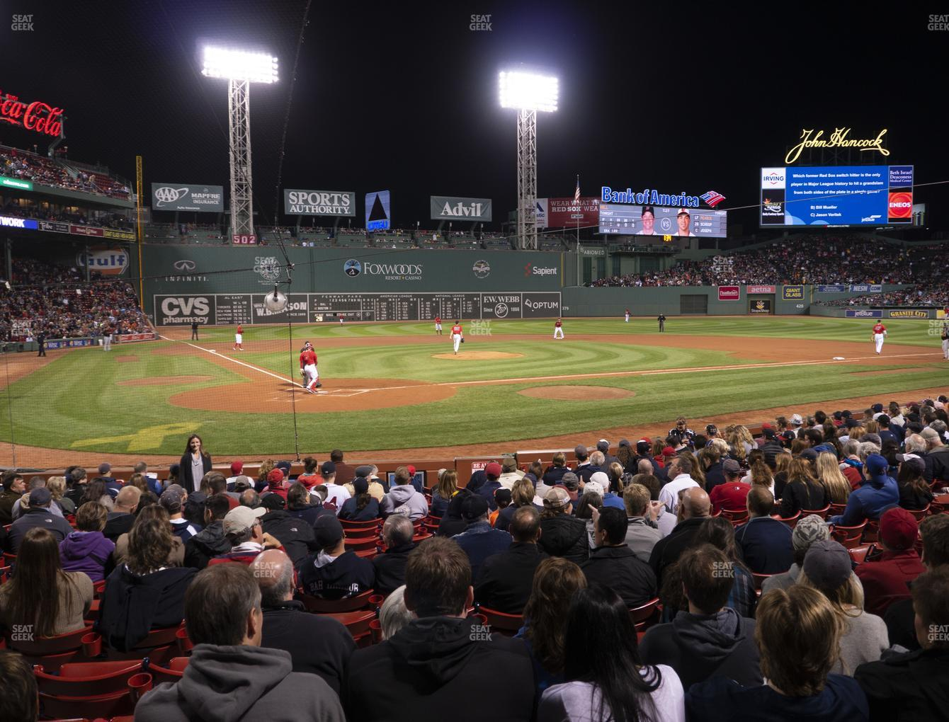 Boston Red Sox at Fenway Park Loge Box 125 View