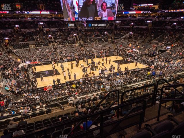 AT&T Center Section 109 view
