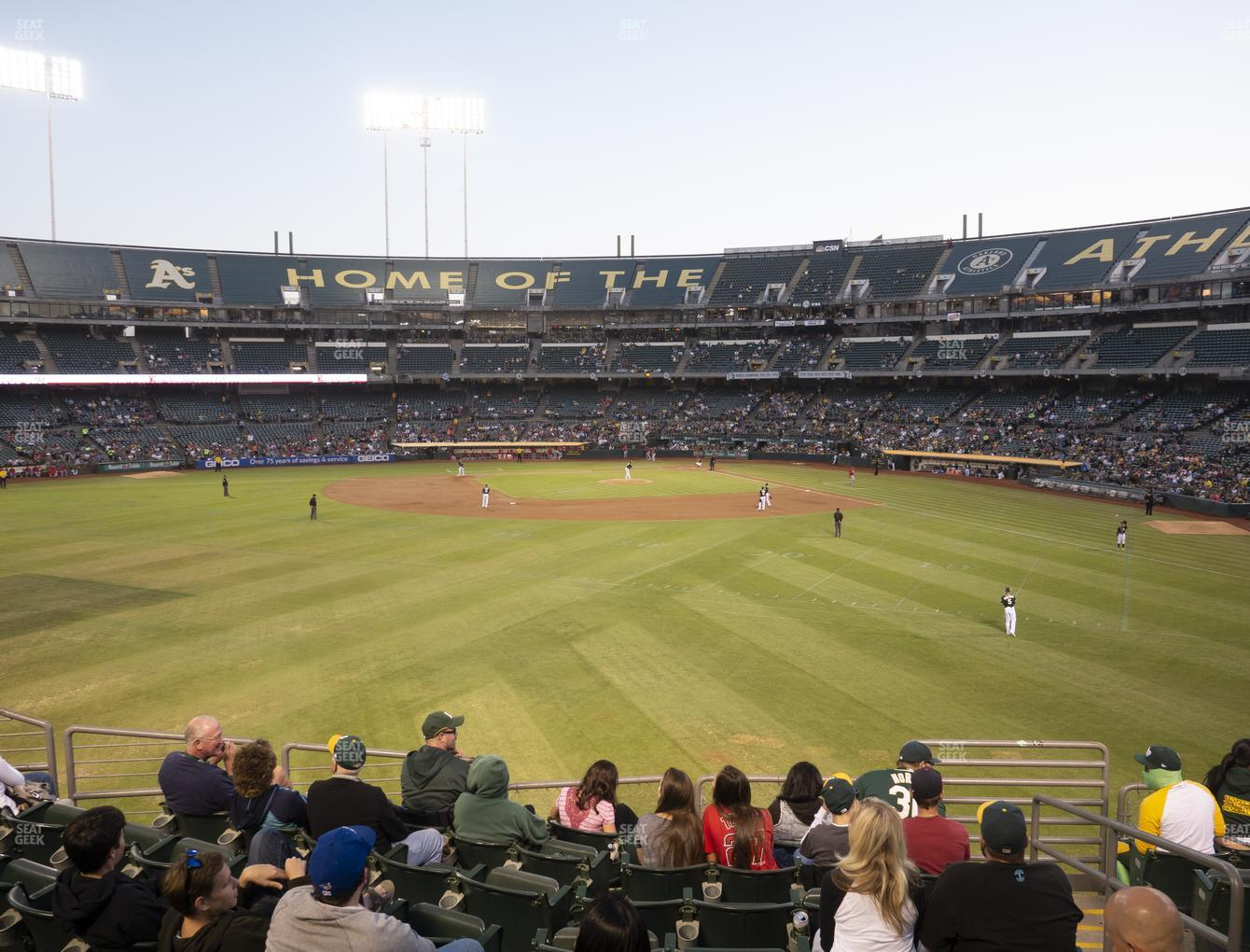 Oakland Athletics at RingCentral Coliseum Section 137 View