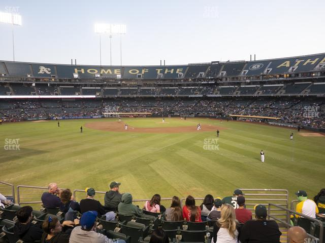 Oakland-Alameda County Coliseum Section 137 view