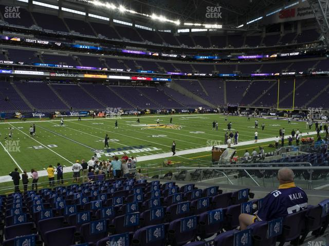 U.S. Bank Stadium Section 132 view