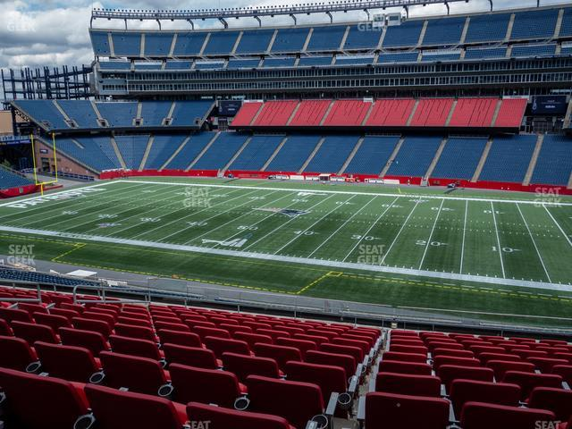 Gillette Stadium Section Club 29 view