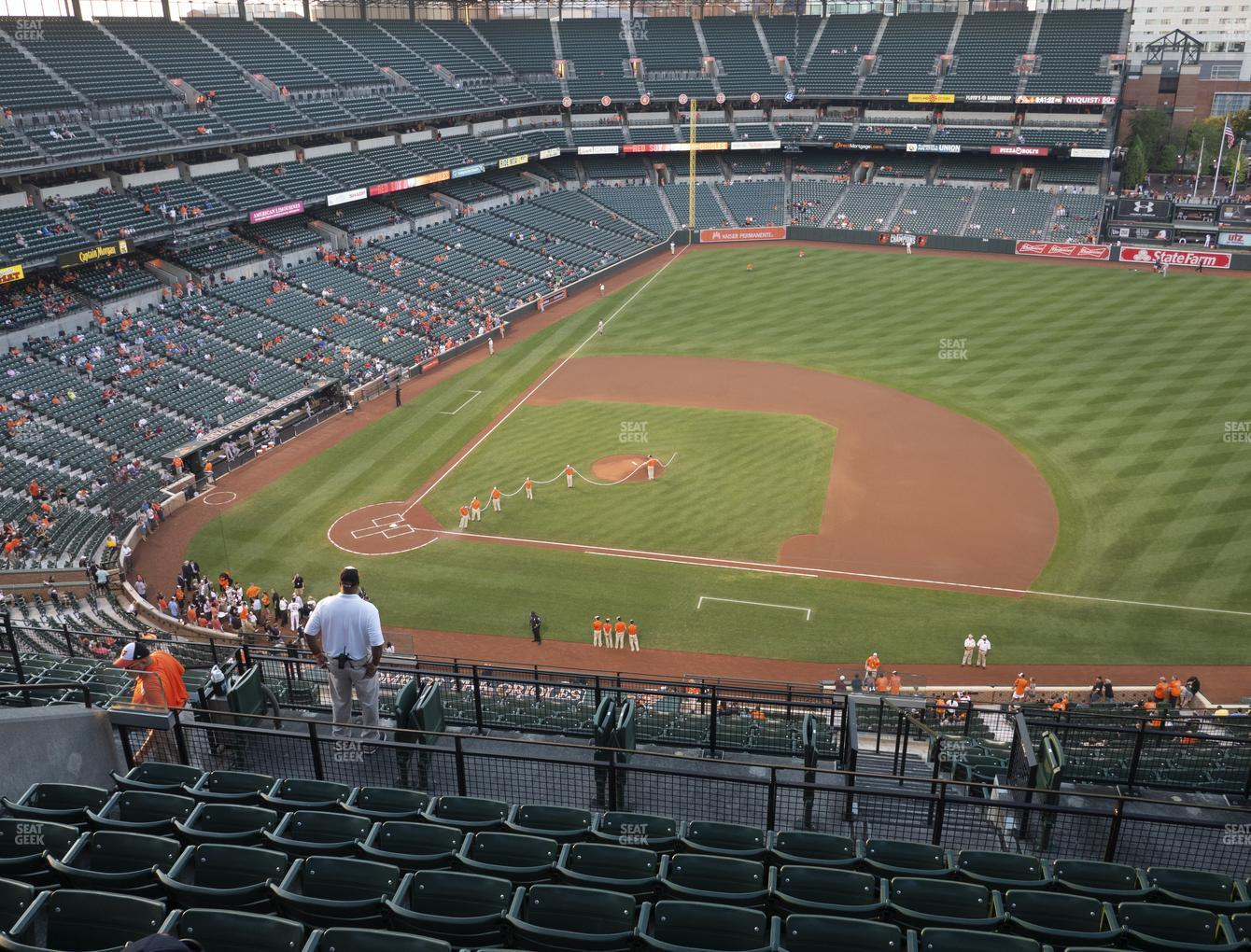Baltimore Orioles at Oriole Park at Camden Yards Section 322 View