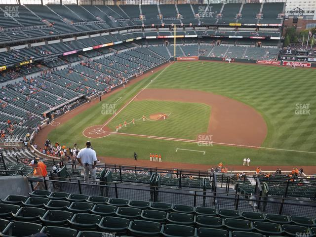 Oriole Park at Camden Yards Section 322 view