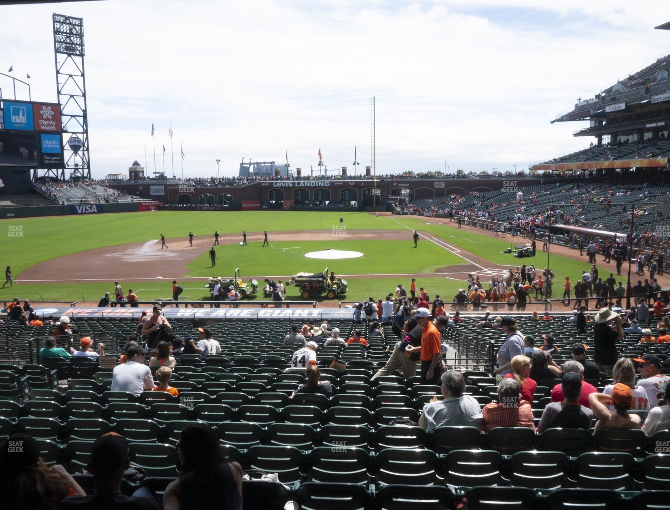 San Francisco Giants at Oracle Park Section 122 View