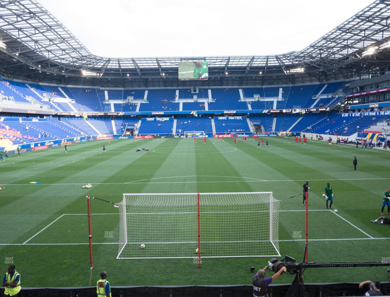 New York Red Bulls at Red Bull Arena Section 118 View