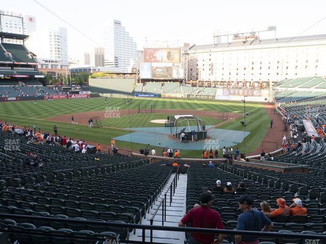 Oriole Park at Camden Yards Section 39 view