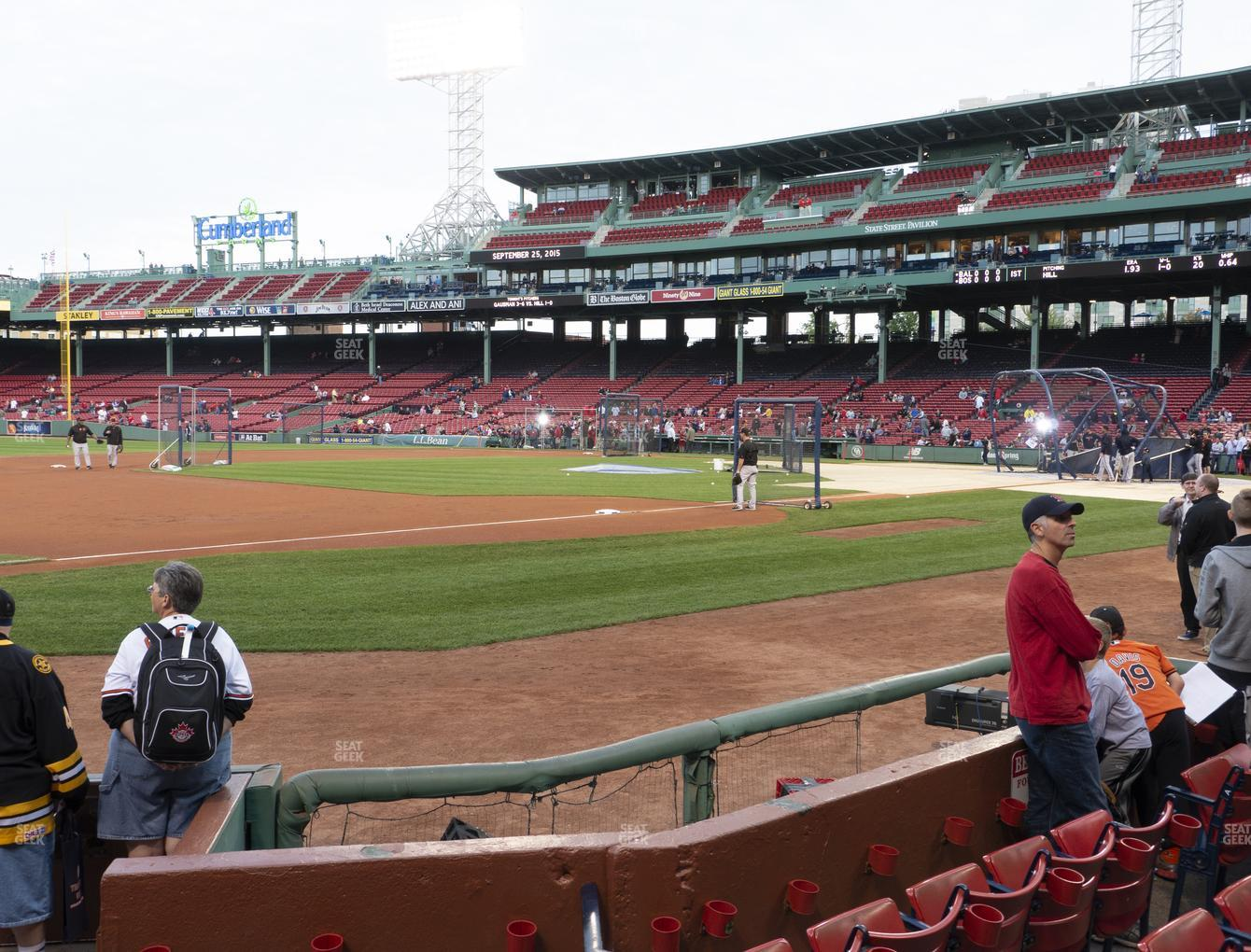 Boston Red Sox at Fenway Park Field Box 71 View