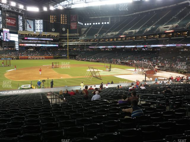 Chase Field Section 129 view