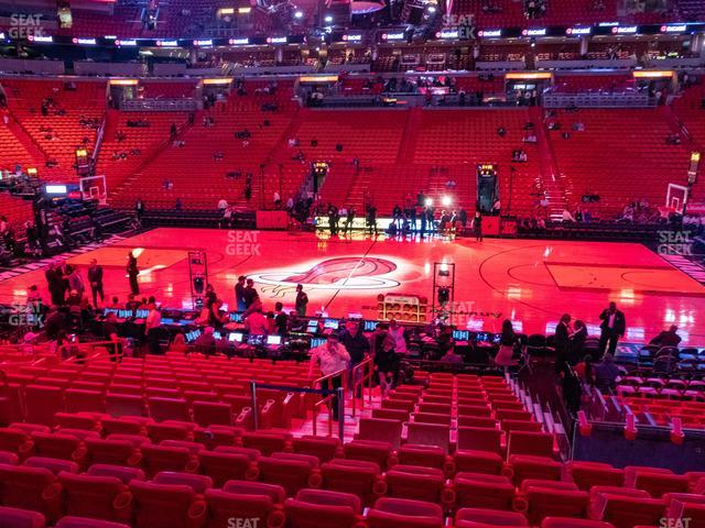 American Airlines Arena Section 106 view