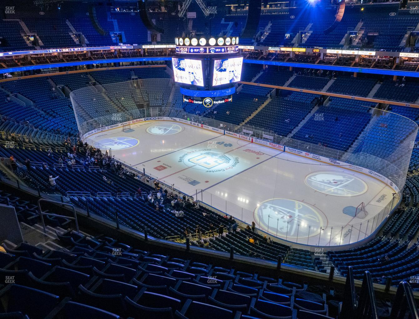 Buffalo Sabres at KeyBank Center Section 303 View