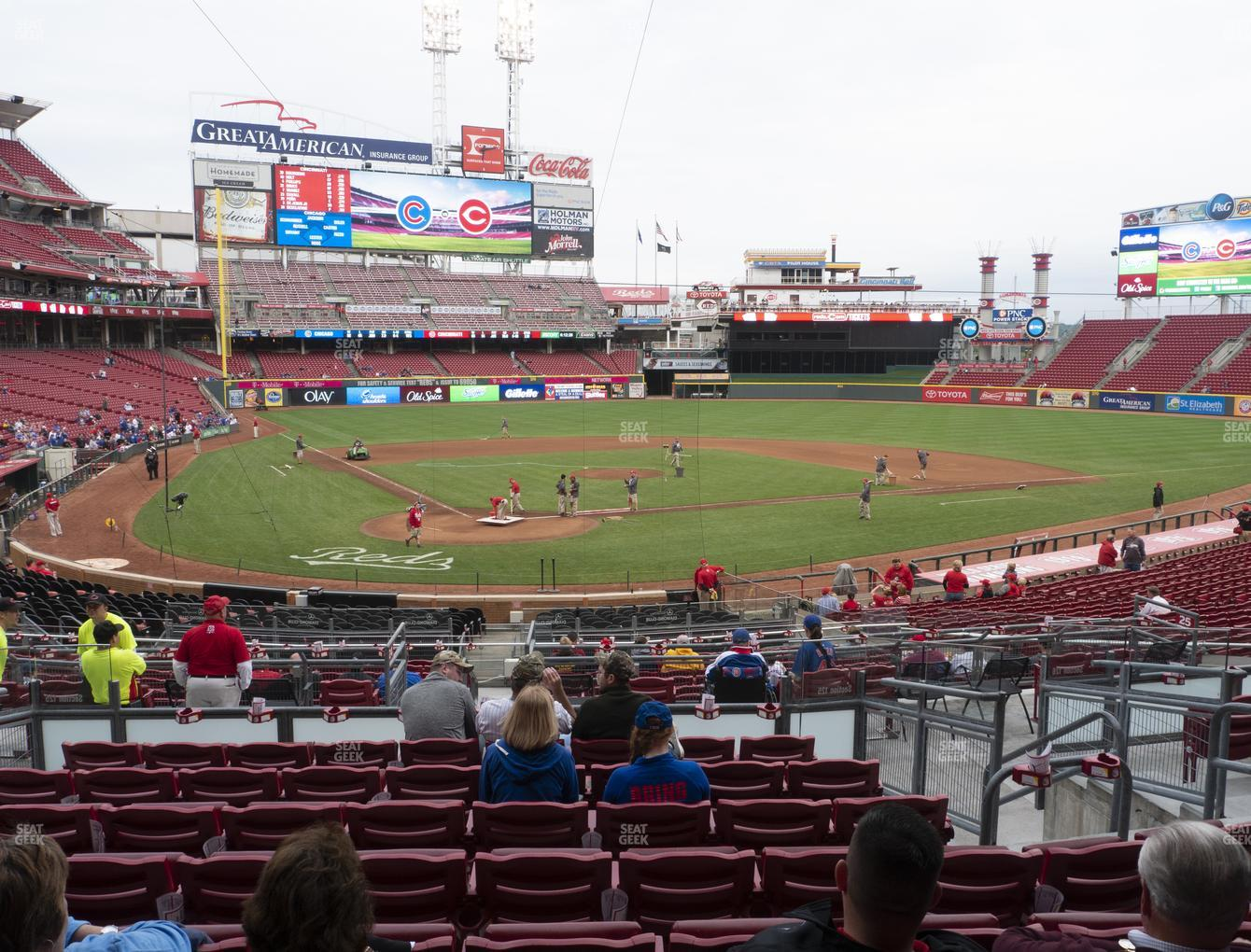 Cincinnati Reds at Great American Ball Park Section 125 View