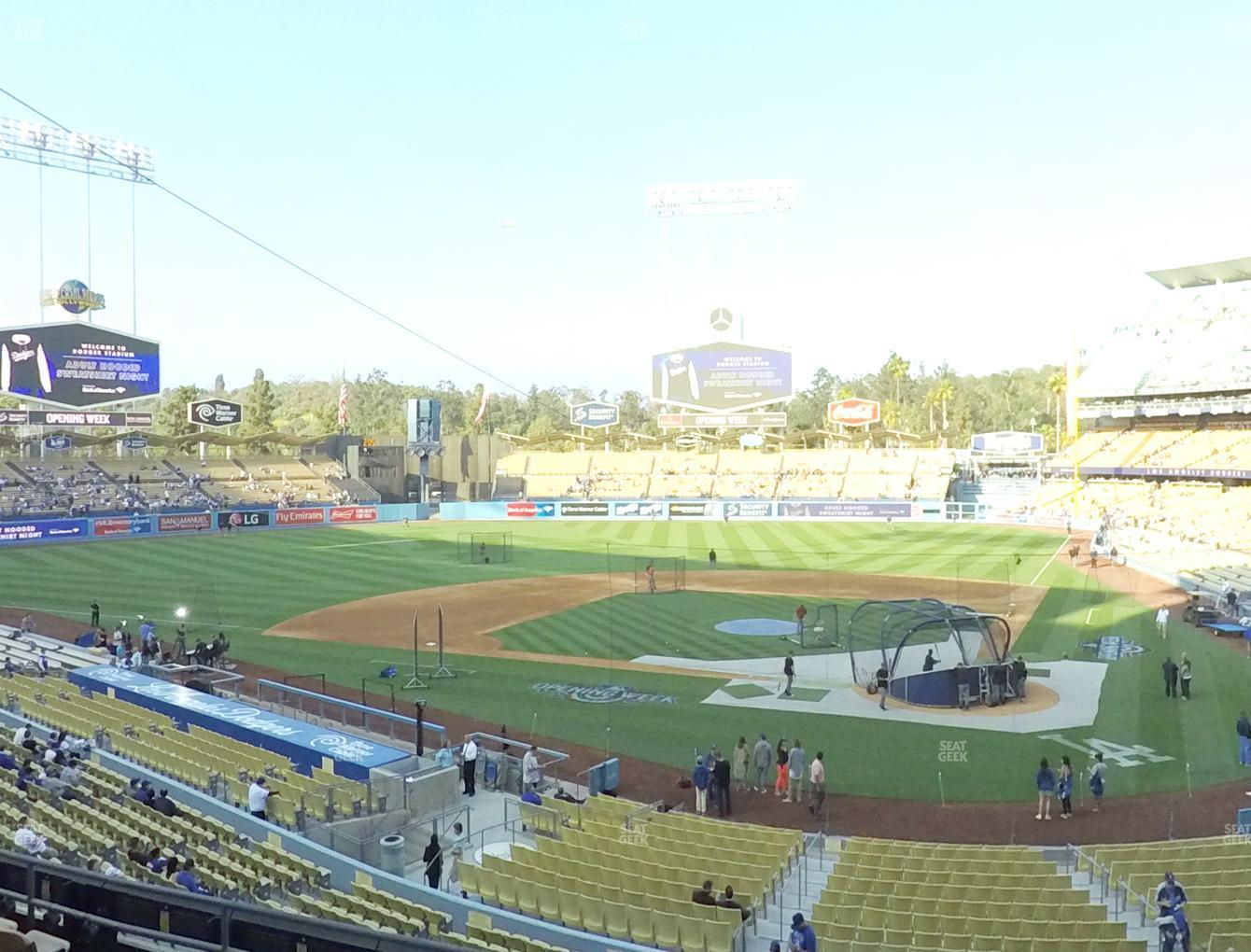 Los Angeles Dodgers at Dodger Stadium Loge Box 115 View