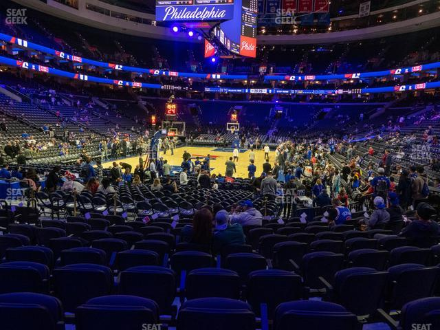 Wells Fargo Center Section 120 view