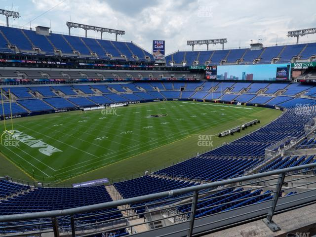 M&T Bank Stadium Section 206 view