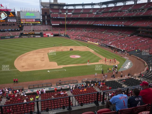 Busch Stadium Infield Redbird Club 257 view