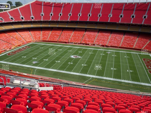 Arrowhead Stadium Section 322 view