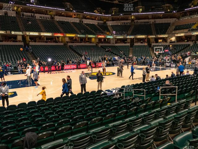 Bankers Life Fieldhouse Section 17 view