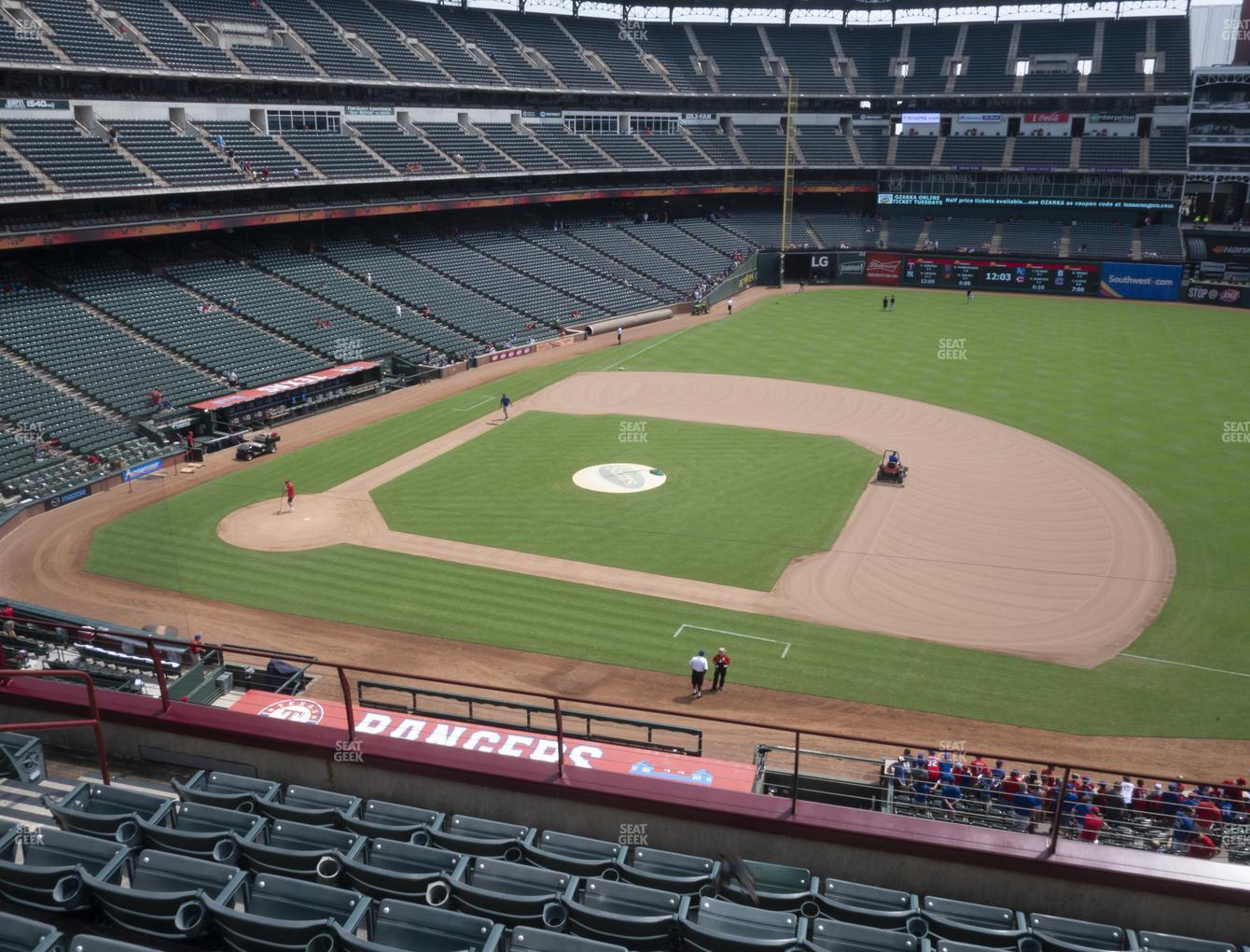 Texas Rangers at Globe Life Park Section 234 View