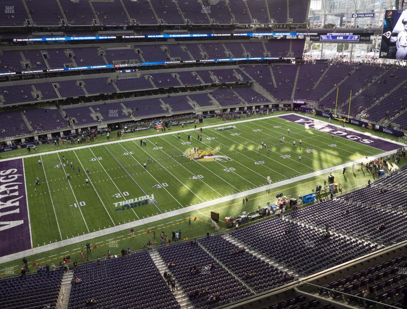 Minnesota Vikings at U.S. Bank Stadium Section 315 View