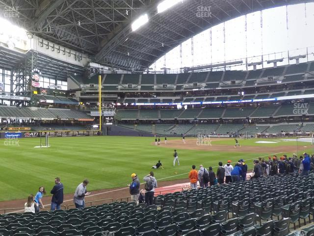 Miller Park Section 128 view