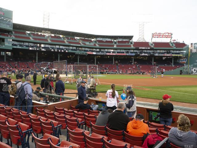 Fenway Park Field Box 14 view
