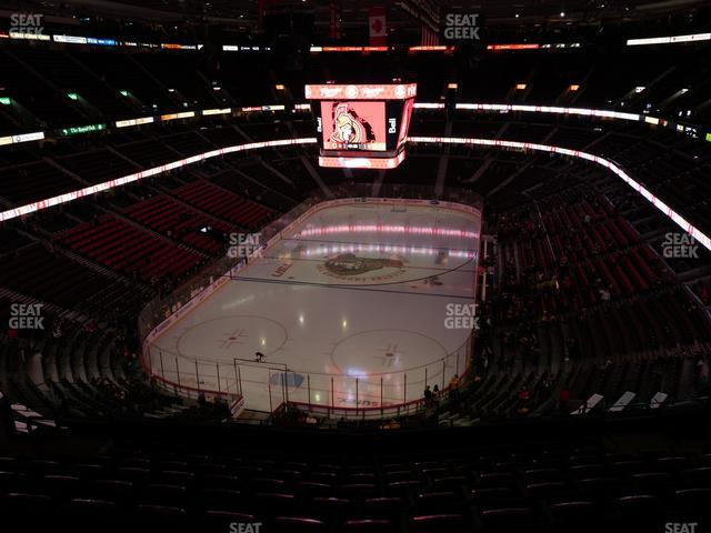 Canadian Tire Centre Coca Cola Zone 314 view