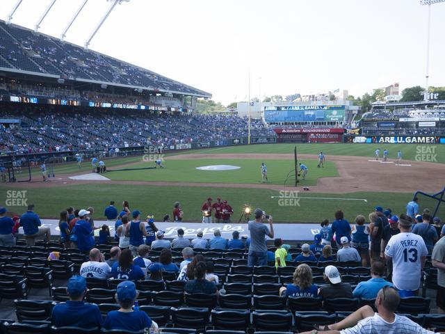 Kauffman Stadium Section 134 view