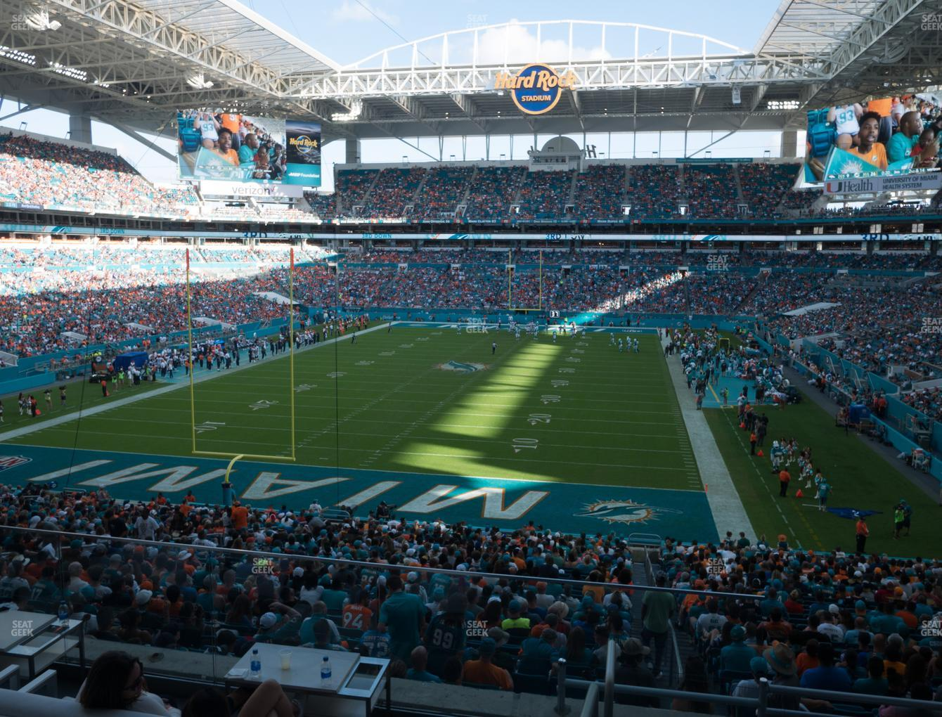 Miami Dolphins at Hard Rock Stadium Section Liv 203 View