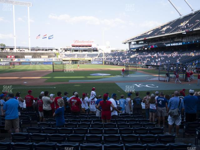 Kauffman Stadium Section 121 view